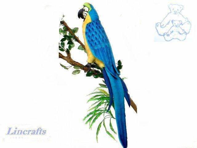 Hansa bluee Macaw, Parred 3068 Plush Soft Toy Sold by Lincrafts Established 1993