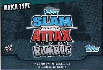 Slam attax rumble-Beat the clock match match type