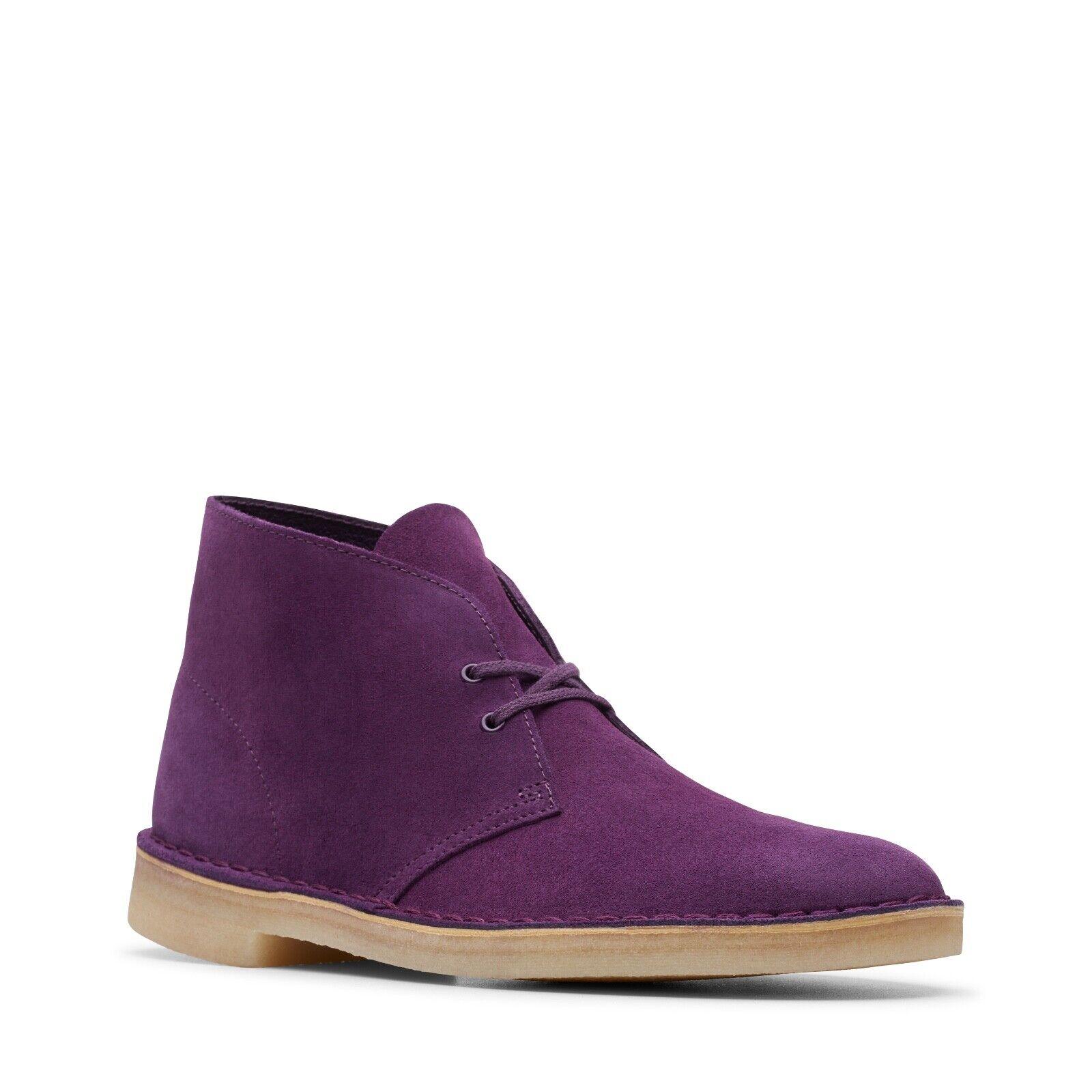 Clarks Originals Men's Desert Boots Deep Purple Suede 26144167