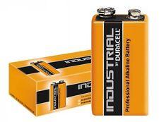 10 PILAS 9V 6LR61 DURACELL INDUSTRIAL BATTERY BLOCK MN1604 6F22 1604S 6LF22