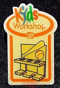 Details about LMH PINBACK Pin Button SPORT RACK Display Ball Bat Home Depot  Kids 2006 Workshop