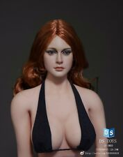 DSTOYS D-005 1/6 Scale Red long hair Girl Head Sculpt for Phicen Body