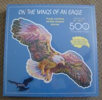 Fx Schmid On The Wings Of An Eagle Shaped 500 Piece Puzzle Sealed 36 Long