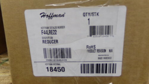 NEW Hoffman F44LRE22 Wireway Reducer  *FREE SHIPPING*