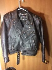 Vintage Rare! DIAMOND Motorcycle Cruiser Superman Leather Jacket . Size 40