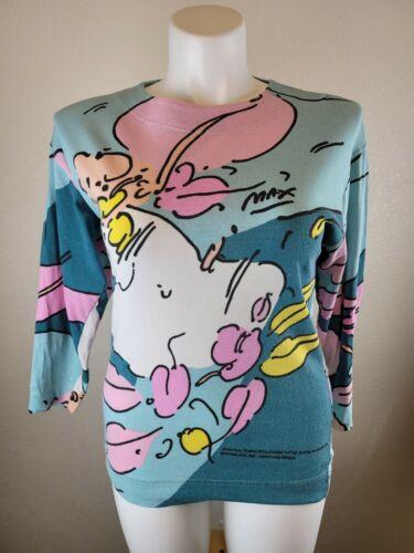 Peter Max 1987  Shirt - Blouse Vintage Multicolor