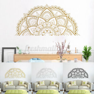 Half Mandala Sticker Wall Decal Decor Art Living Room Bedroom Mural New ~