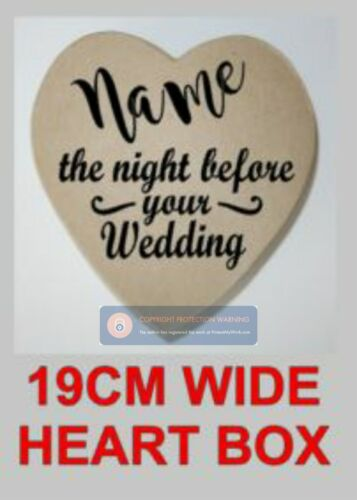 Vinyl Sticker for Wedding Boxes Bride /& Groom Gift Boxes The Night Before Box