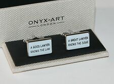 Cufflinks - GOOD LAWYER Design * New * Boxed