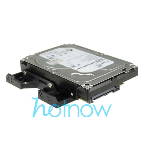 """5.25/"""" to 3.5/"""" 2.5/"""" SSD Hard Drive Adapter TRAY with Screws can mount Fan"""