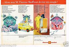 Publicité Advertising 1972 (2 pages) Thermo Shell Confort chauffage fuel