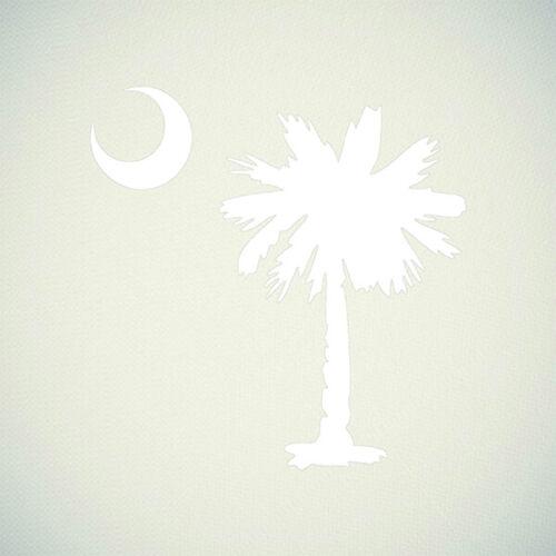 Palmetto Tree with Crescent Moon South Carolina Vinyl Sticker Decal