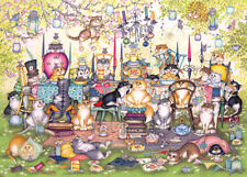 NEW! Gibsons Mad Catters Tea Party by Linda Jane Smith 1000 piece jigsaw puzzle