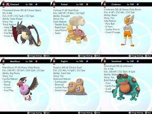 Pokemon Sword Shield 6iv Battle Ready Sun Team Max Ev Best Moves All Shiny Op Ebay