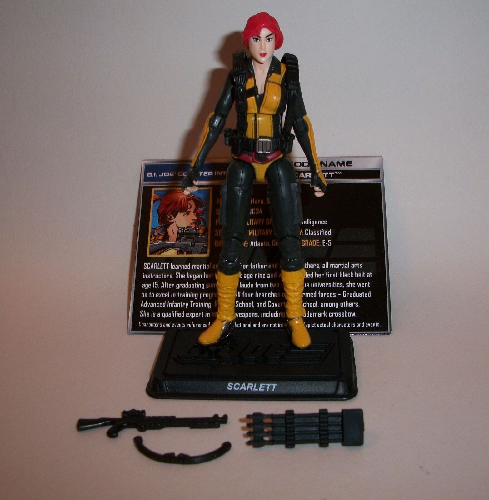 GI Joe 50th Scarlett loose figure Transformers Credver SDCC SDCC SDCC Exclusive 2016 a745c6