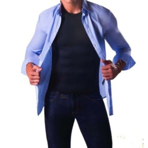 Men Sauna Hot Body Shaper Top Sweat Vest Workout Compression Shirt Waist Trainer