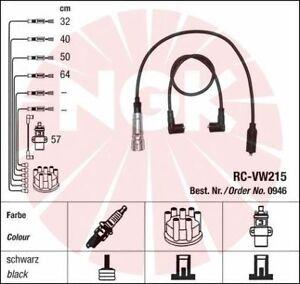Jeu-de-fil-de-bougie-cable-allumage-NGK-0946-VW-POLO-Coupe-1-0-CAT-45ch-86C-80