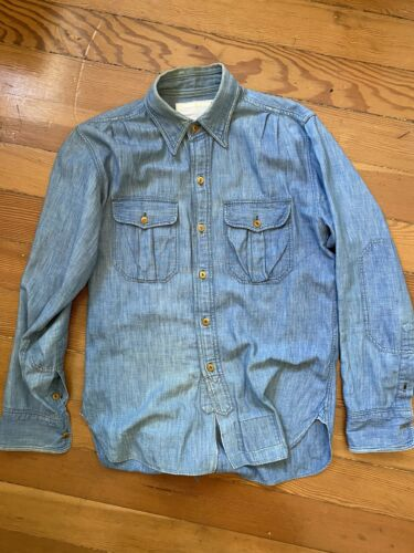 Mister Freedom Chambray Shirt Size Small Well Worn