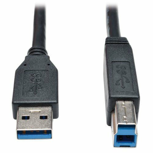 ab M//m Black 3-ft Tripp Lite Usb 3.0 Superspeed Device Cable - Usb For Hard
