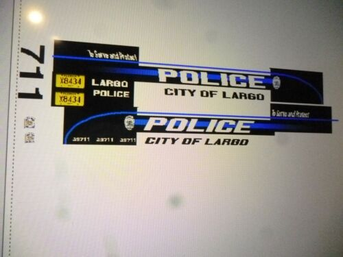 Largo Florida Police Car Decals 1:64  two for one money