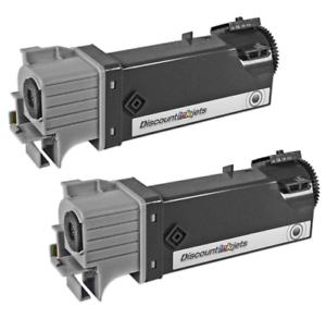 2 pack 106R01334 BLACK Toner Cartridge for Xerox Phaser 6125