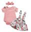 3PCS-Newborn-Infant-Baby-Girl-Outfits-Clothes-Set-Romper-Tops-Strap-Skirt-Dress miniature 12