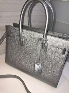 Sac de Jour YSL Mini Metallic Leather Tote NWT
