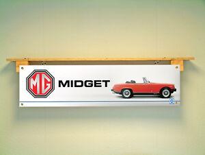 MG Midget Banner Workshop Garage Classic Car Show British - Mg car show