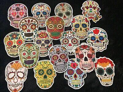 Sugar Skull Day of The Dead Decal Sticker Car Truck Window Bumper Laptop Wall