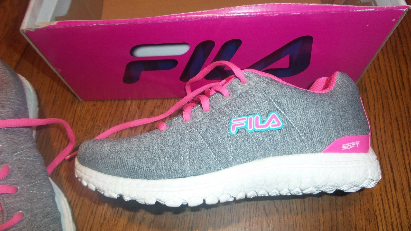 Sz 6.5 NIB WOMENS Fila SPORT Namella Energized RUNNING TRAINING SPORT Fila SHOES Gray Pink 9d53ea