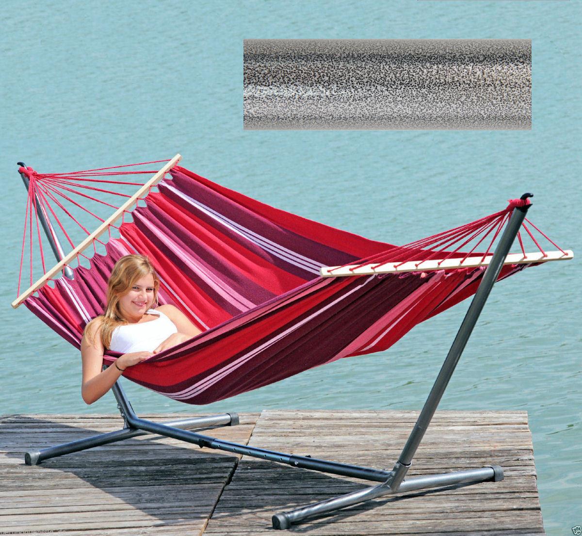 Summer Set - Wetterfeste Amazonas Hängematte Hängematte Hängematte Stabhängematte mit Gestell 4220000 e447c7