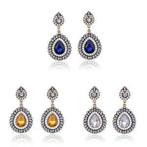 Elegant-Women-039-s-Crystal-Vintage-Drop-Dangle-Rhinestone-Ear-Stud-Earrings-Jewelry