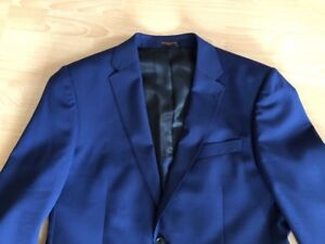 Simon M Noble Carter Suit di Size Blue London wx004rZPEq