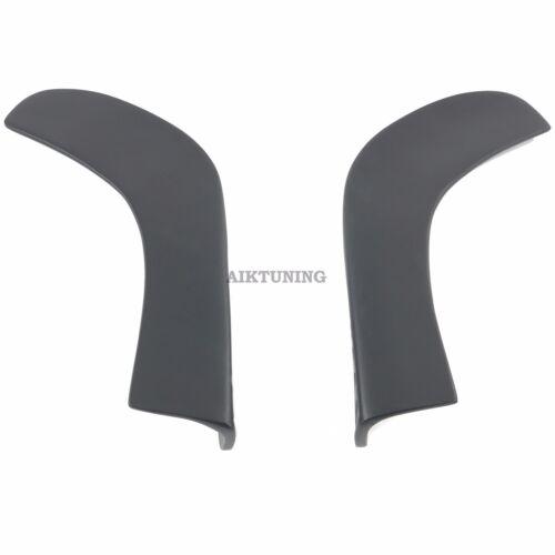 Universal Front Rear Bumper Splitter Addon Apron Under Bumper Corner Valance Set