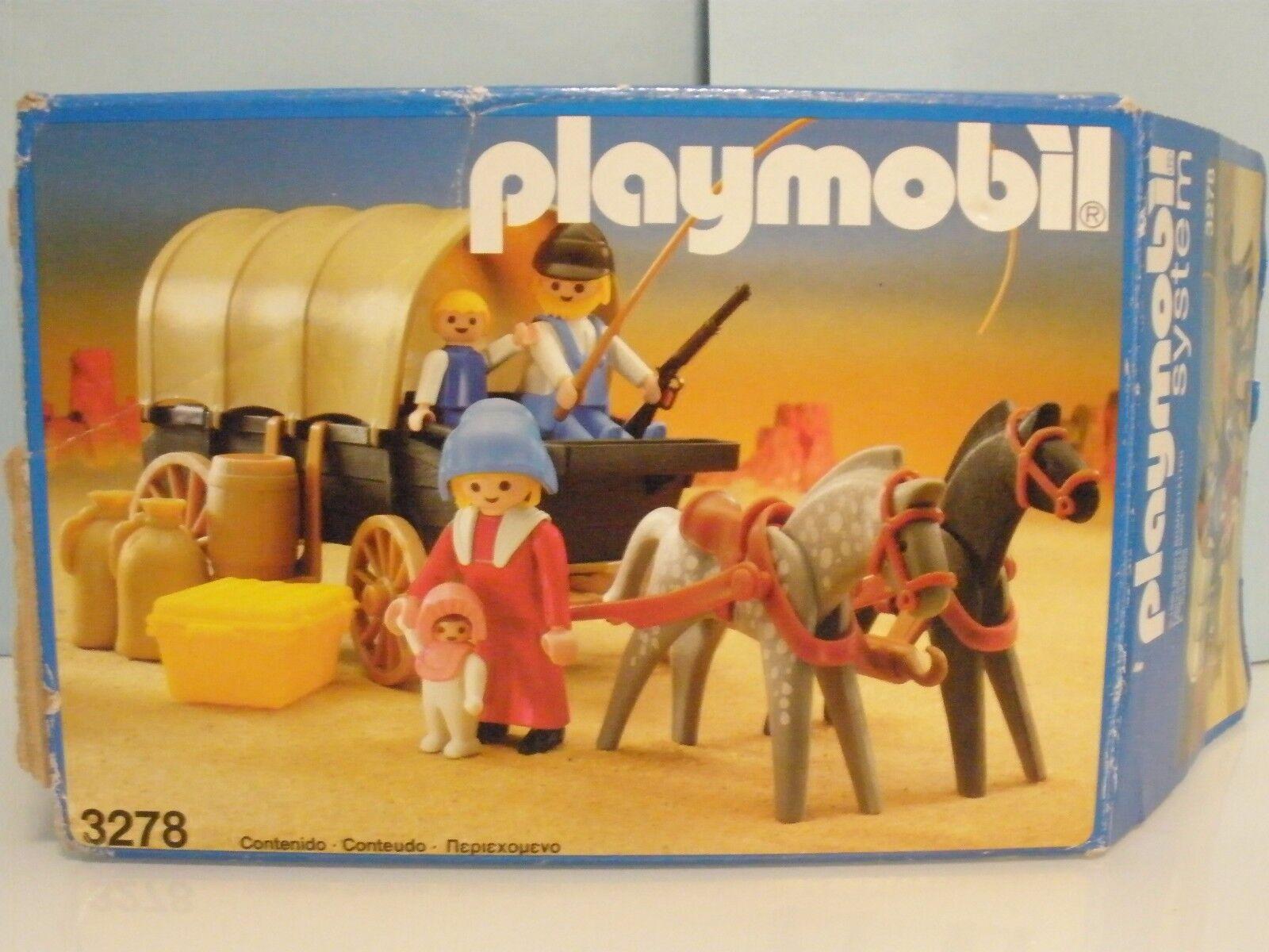 Playmobil Western Carromato Carreta del Oeste años 80  3278 Caja Original 4