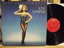"""12"""" LP - UTE LEMPER - Life Is A Cabaret - FOC - 80´s"""