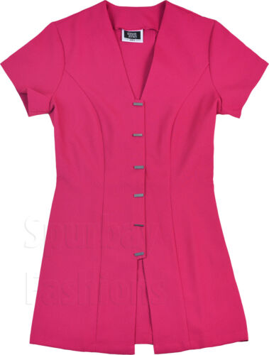 Women short sleeve tunic dress in pink for size 6,8,10and12 by simon jersey