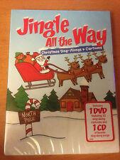 Jingle All the Way Christmas Sing-Alongs & Cartoons (CD/DVD, 2 Discs) BRAND NEW