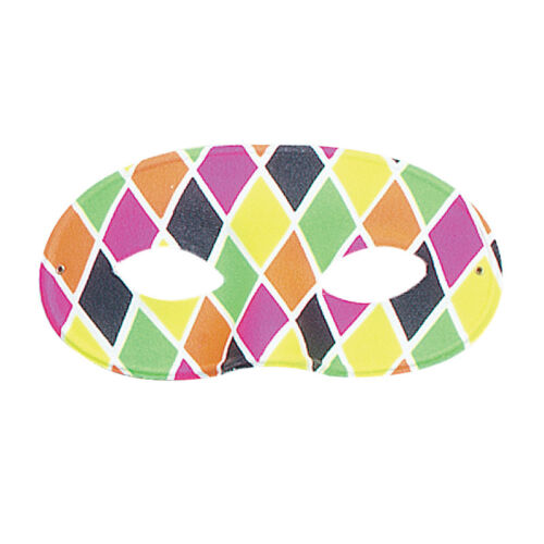 HARLEQUIN COLOURFUL EYE MASK MALE FEMALE FANCY DRESS ACCESSORY MASQUERADE PARTY