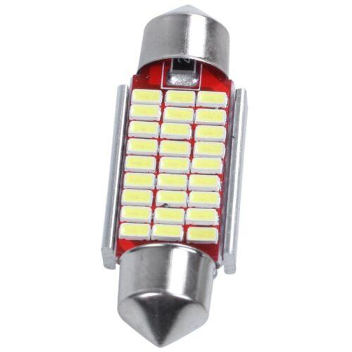 2Pcs C5W C10W 36mm 3014 27SMD Festoon Led Canbus Car Inteiror Bulb License I9V8