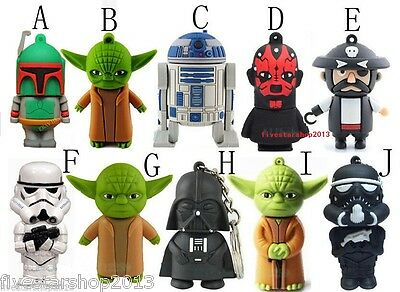 Cartoon Star Wars USB 2.0 Memory Stick Flash pen Drive 4GB 8GB 16GB 32GB P559