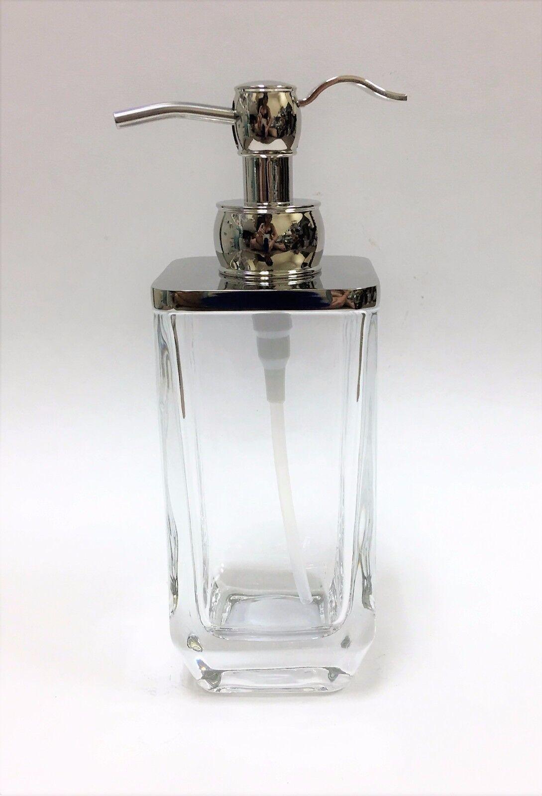 Poliert Silber  Schwer Transparentes Glas Lotion, Seife Badezimmer, Küche | New Product 2019