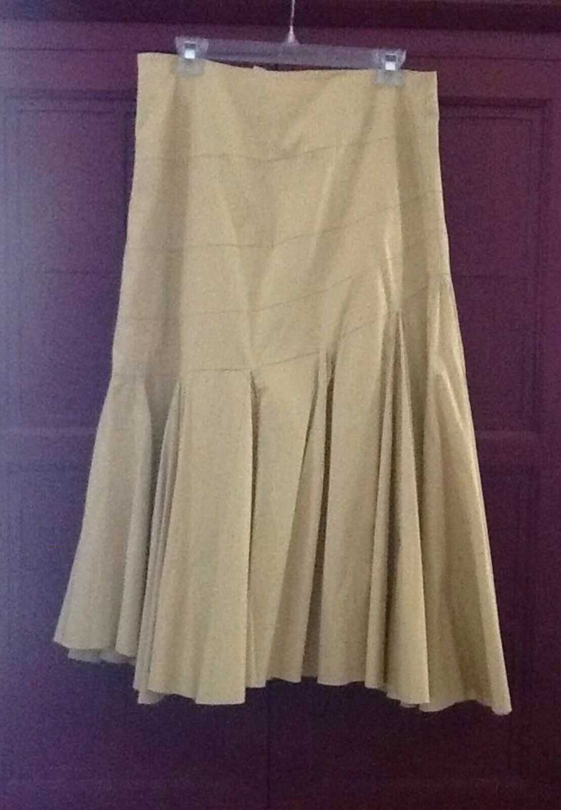 Anthropologie maeve yellow wheat golden skirt, trumpet mermaid A-Line size 2 XS