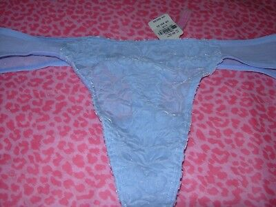 ed25cf174b Victoria s Secret PINK Thong Panty Pantie Luxe Velvet!! BLUE SMALL LARGE NWT