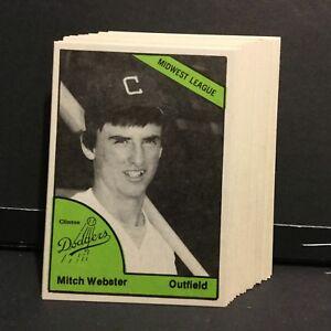 1978 Clinton Dodgers Minor League Baseball Set La Dodgers