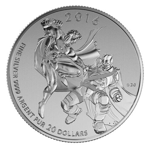 2016 Canada $20 BATMAN vs SUPERMAN DAWN OF JUSTICE 1//4oz Silver coin $20for$20
