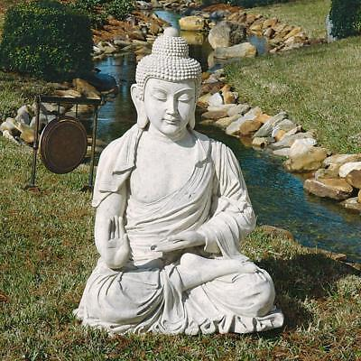 "48"" Tranquil Touch of Asia Buddha Happiness Wealth Symbol Meditation Sculpture"