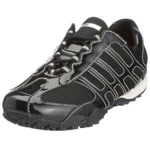 Lace 36 Up Geox Eu Ladies Trainers Black Size D7112f amp; Patent Textile gqdPwfx5w