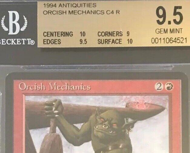 Orcish Orcish Orcish Mechanics - BGS 9.5 GEM MINT - Antiquities- MTG - Vintage - Legacy - c4b306