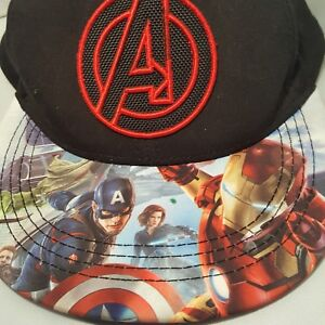 4dee83fcecf62 Image is loading Marvel-Avengers-Hat-Snapback-Cap -Adjustable-Captain-America-